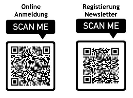 QR Codes Online Anmeldung und Newsletter
